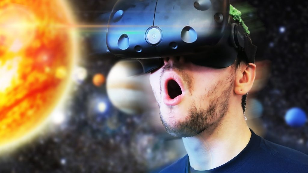 Space travel with VR (photo credit: https://www.youtube.com/watch?v=UG5EZ4ik2YA)