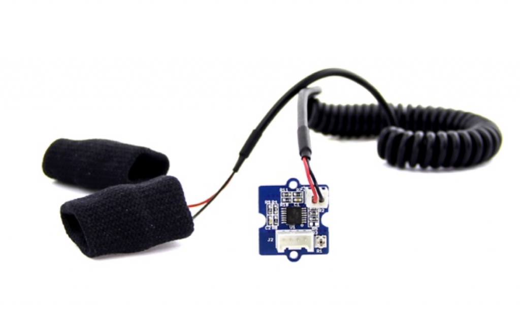 Grove GSR Sensor for detecting skin conductance © Seeedstudio Wiki
