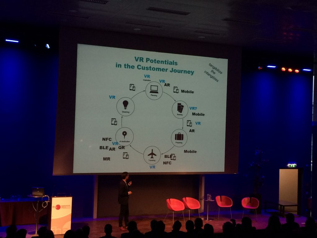 Roman Egger discusses potential application fields of VR during the customer journey