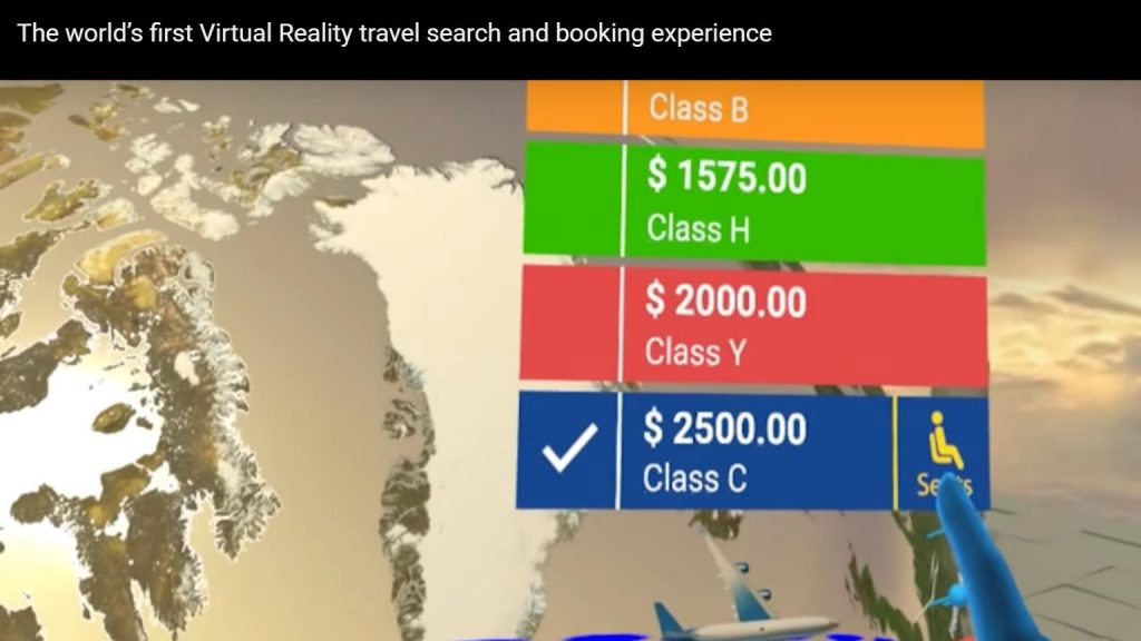 Booking via VR?