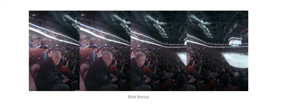 "A screenshot from 360-degree experience of ""Go Habs go!""."
